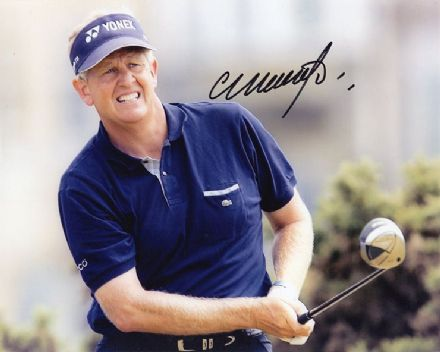 Colin Montgomerie, Scottish golfer, signed 10x8 inch photo.